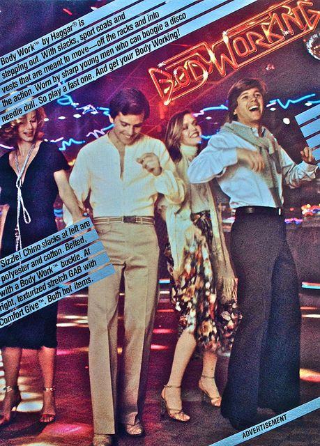 1978 Men's Fashion Advertisement Bodyworks Disco Wear