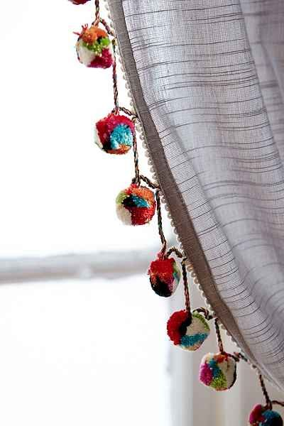Magical Thinking Pompom Curtain - Urban Outfitters                                                                                                                                                      More