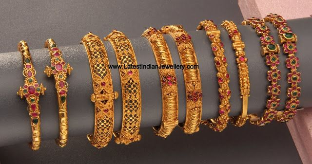 Latest Collection of Gold Bangles and Kada Designs