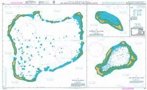British Admiralty Nautical Chart 725: British Indian Ocean Territory, Plans in Chagos Archipelago