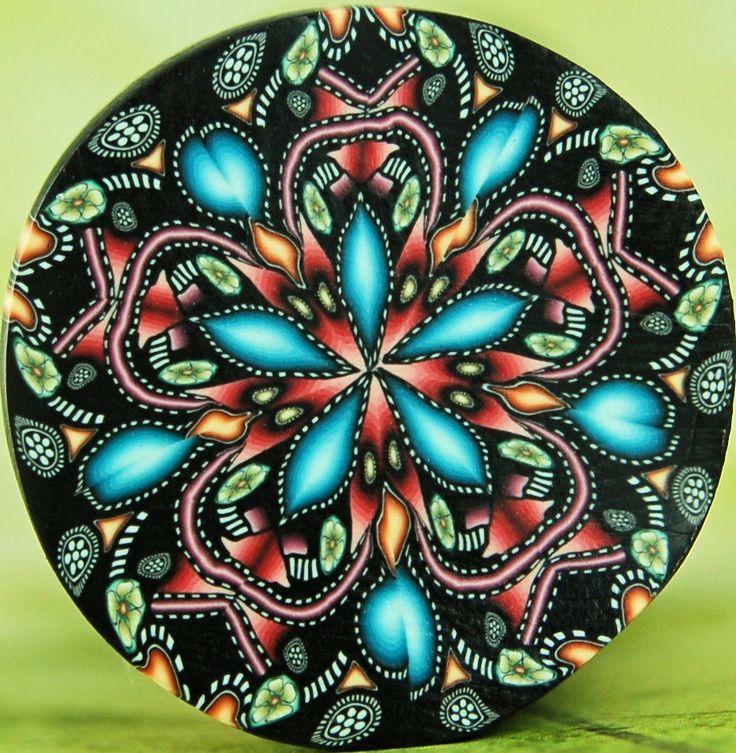Kaleidoscope Polymer Clay Cane, 'Starflower'.