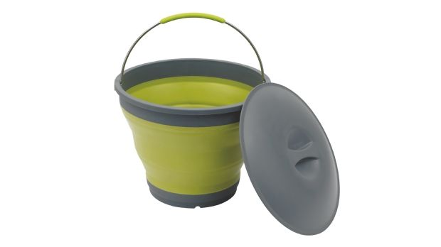 Collaps Bucket w/lid Green