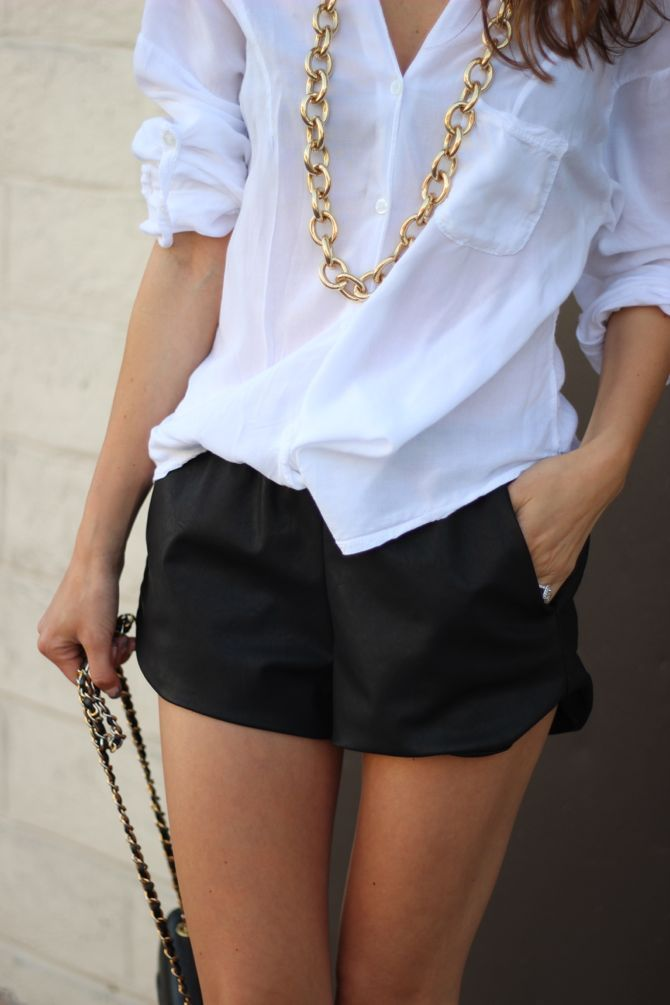 black + white + gold summer outfit