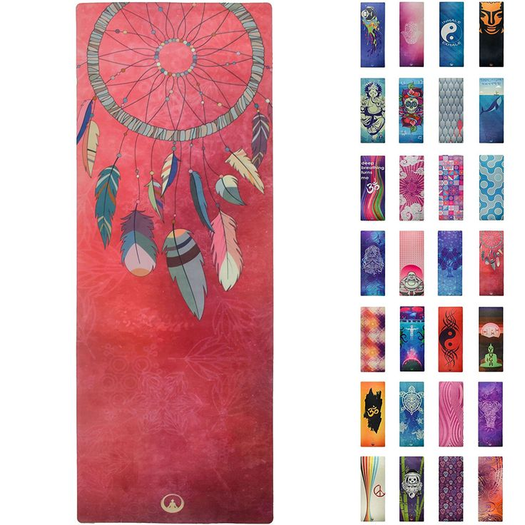 70 usd Amazon.com : Printed Yoga Mat, Prana Yoga Mat, Bikram Yoga Mat - Incredibly Comfortable Yoga Mats for Men and Women - Gorgeous Microfiber Printed Designs - Boho Style in Pink - Boho Chic - Soul Obsession : Sports & Outdoors