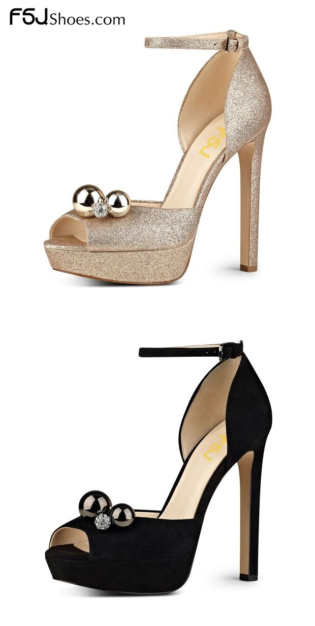 fa481d62d235 Women's Style Sandal Shoes Winter Fashion Prom Dresses Shoes Women's  Champagne, Black Glitter Peep Toe