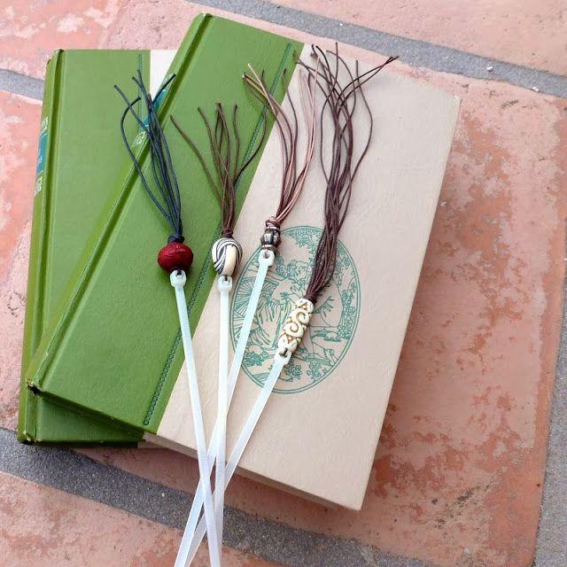 Mich L. in L.A.: Ornamental Bead Sticks! Part Six: Tassel Bookmarks From Zip Ties