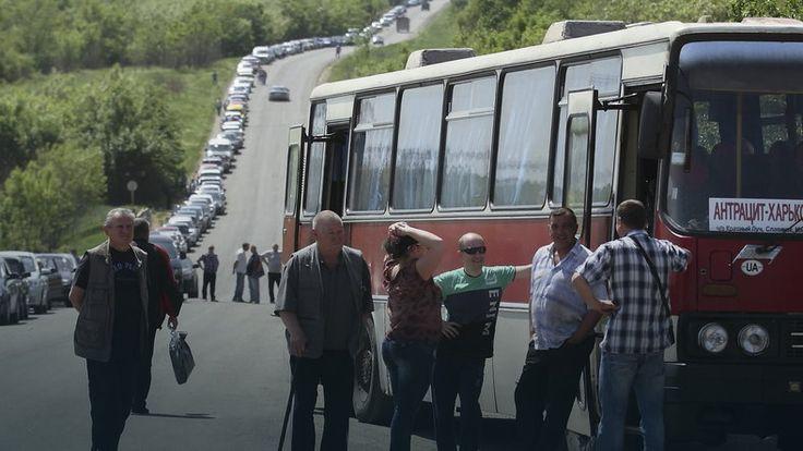 Mieszkańcy Donbasu znowu uciekają do Rosji #Ukraina #kryzys