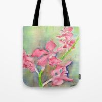 Tote Bag featuring Red Orchid by Ewally