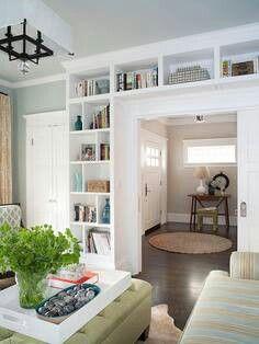 Bookshelves....