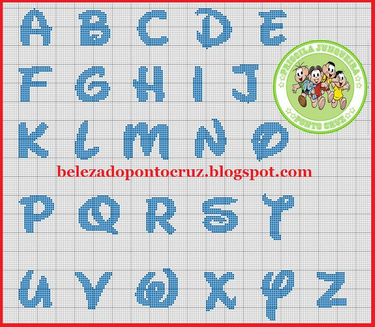 A Beleza Do Ponto Cruz: Monograma Disney / Disney Alphabet