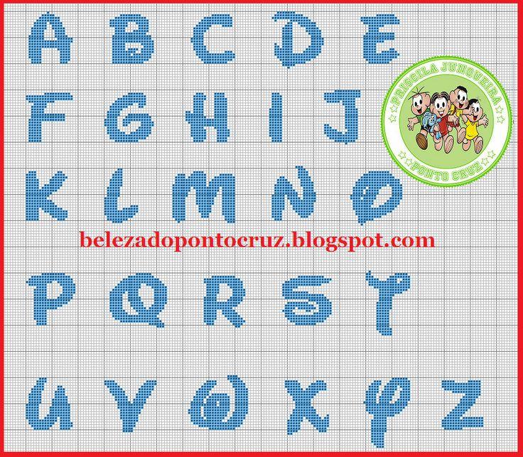 A beleza do ponto cruz monograma disney disney alphabet for Alfabeto disney a punto croce