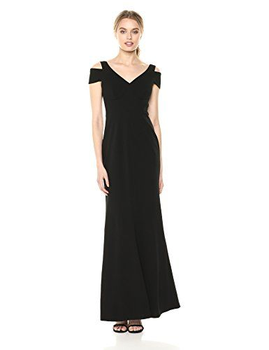 ac37c7b8dff969 The perfect Calvin Klein Women s Cold Shoulder Long Gown with V Neckline  Dress online.