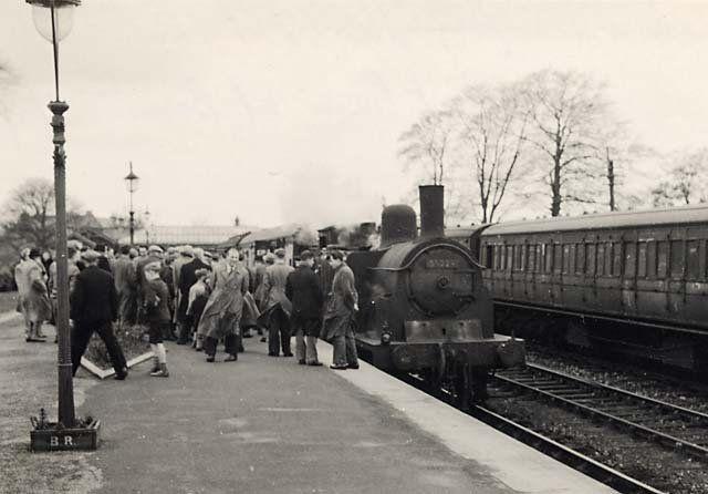The last train at Barnton Station, Edinburgh, 5 May, 1951