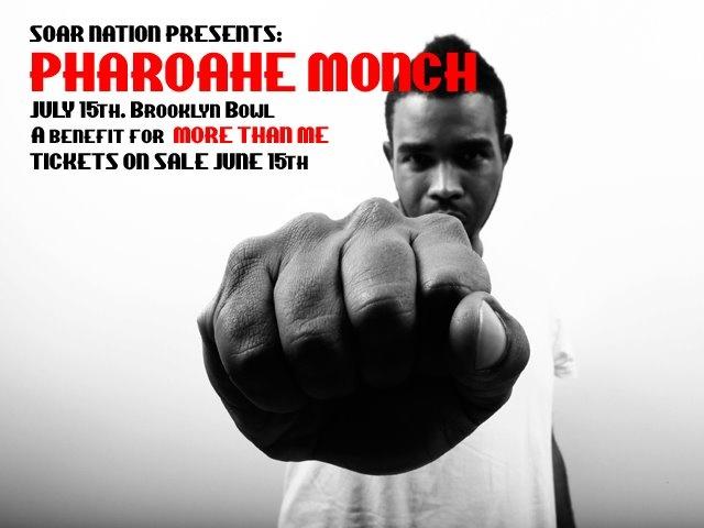 SPOTLIGHT: PHAROAHE MONCH + MORE THAN ME  Help raise awareness for the victims of war torn West Liberia.   soarnation.com