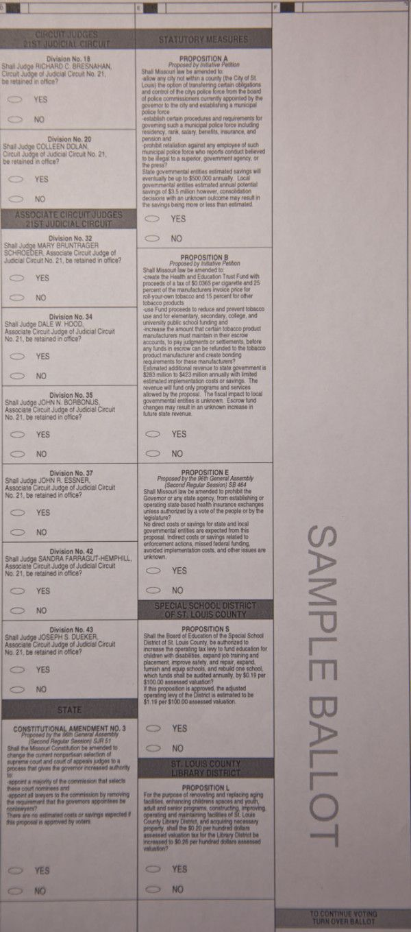 Pg. 2 - SAMPLE BALLOT, St. Louis County #MO #63146 November 6, 2012 #election2012 #STLelection  #Obama2012