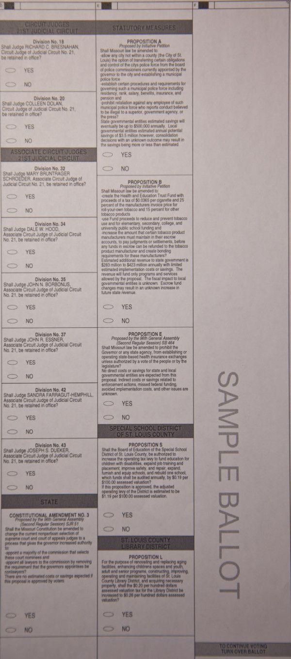 Pg. 2 - SAMPLE BALLOT, St. Louis County #MO #63146 November 6, 2012 #election2012 #STLelection  #Obama2012