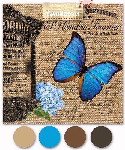Paris Vintage - Serrurerie - Papillon - Brut - Panólatras