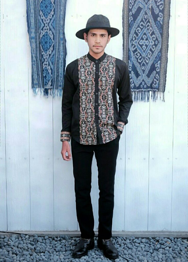 """ L'AUTHORITAIRE "" ( Songket for Ramadhan & Ied ) Menswear - Black Dayak - tribal pattern - summer"