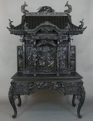 Meiji Scholar s desk   Lot 95   Gothic FurnitureAsian FurnitureClassic  FurnitureVintage FurnitureWood WoodCarved. 154 best Carved Furniture Wood carving images on Pinterest