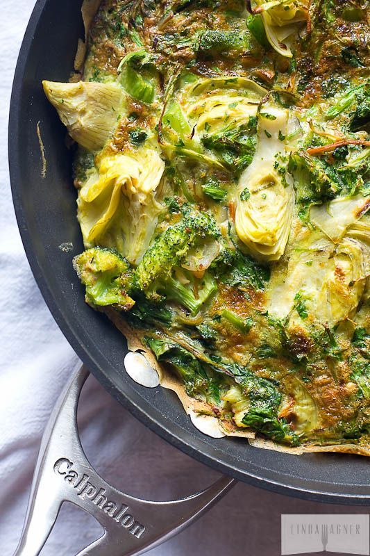 Easy Artichoke, Spinach, and Herb Frittata by lindawagner #Frittata #Artichoke #Spinach #Herb #Healthy
