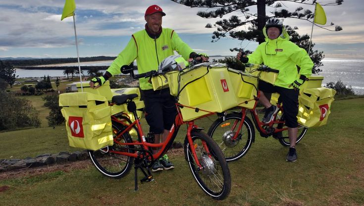 POSTIES will be zipping around on push bikes rather than motorbikes as a way of the future.