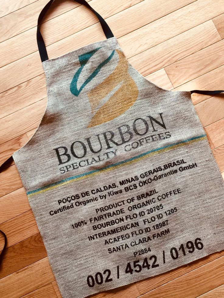 Coffee Bean Sack Apron/Burlap Coffee Gift/Bourbon Gift for Him/Kitchen or Grill Apron/Upcycled Apron/Cook or Chef Gift/Brazil Apron