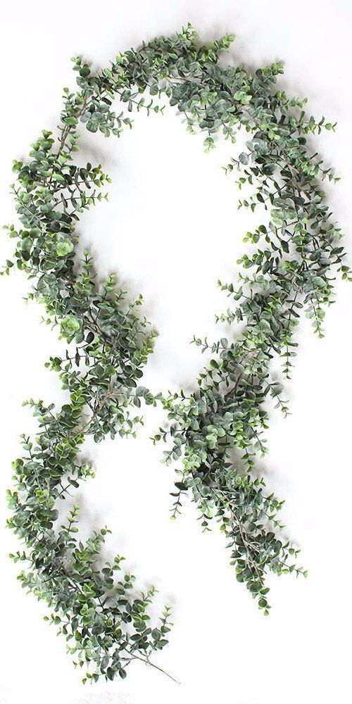 Faux Eucalyptus Garland in Green
