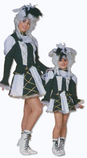Tanzmariechen Kostüm schwarz