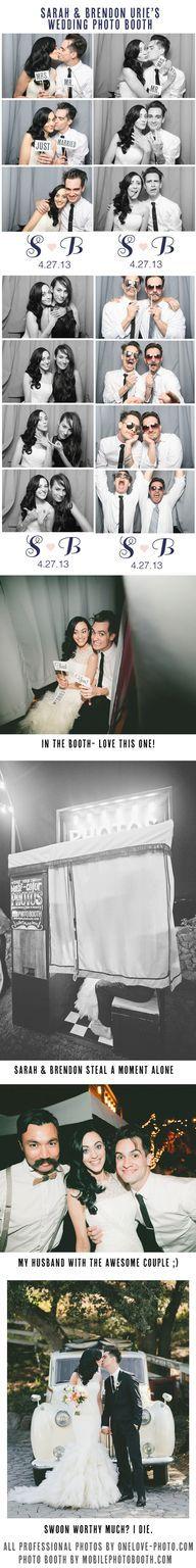 Sarah + Brendon Urie's Photo Booth  photos by: www.onelove-photo... photo booth by: www.mobilephotobooth.com  #bashplease #malibu #wedding #photobooth