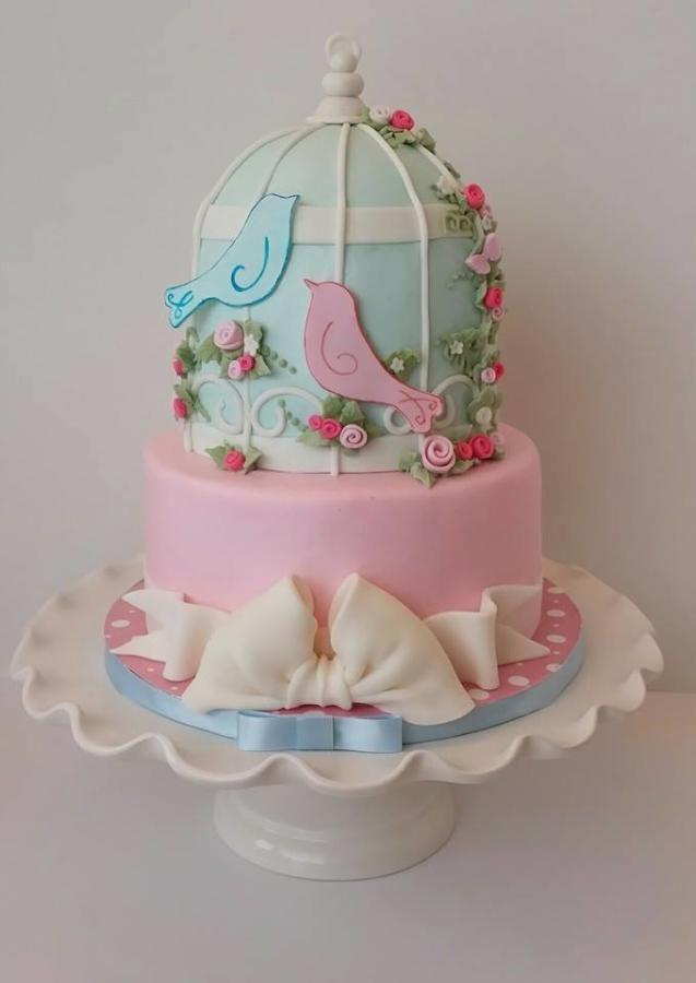 Love bird Baby Shower CAke