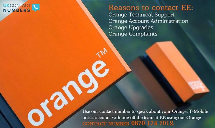 Use our contact number to speak about your #Orange, T-Mobile or EE account with one off the team at EE using our Orange #contactnumber: 0870 174 7012
