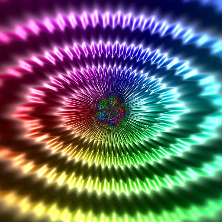 #digital #art #design #abstract #algorithm #fractal #logarithmic #spiral #rainbow #inverted #domaincoloring #five #penta #symmetry #shiny #metallic #reflective #3d