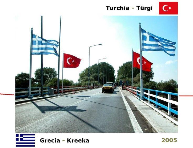 Confini amministrativi - Riigipiirid - Political borders - 国境 - 边界: 2005 GR-TR Kreeka-Türgi Grecia-Turchia