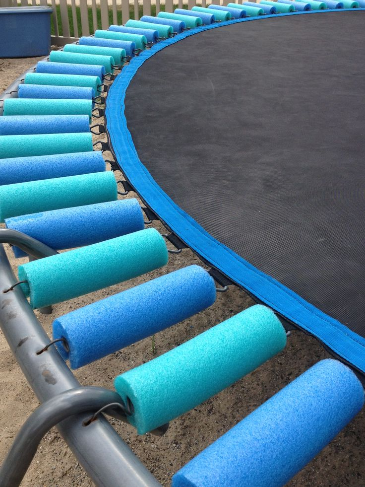Pool Noodles To Cover Trampoline Springs Outside