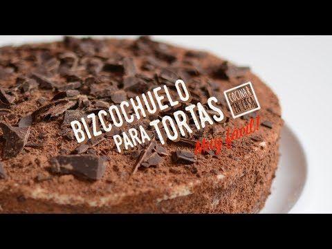 Bizcochuelo para Tortas Rellenas - Bizcocho para Pasteles Dulces Rellenos | Video receta fácil de preparar para cocinar en casa todos los días