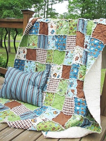 rag quilt - made from boys old clothes --somebody who quilts please make this for me!