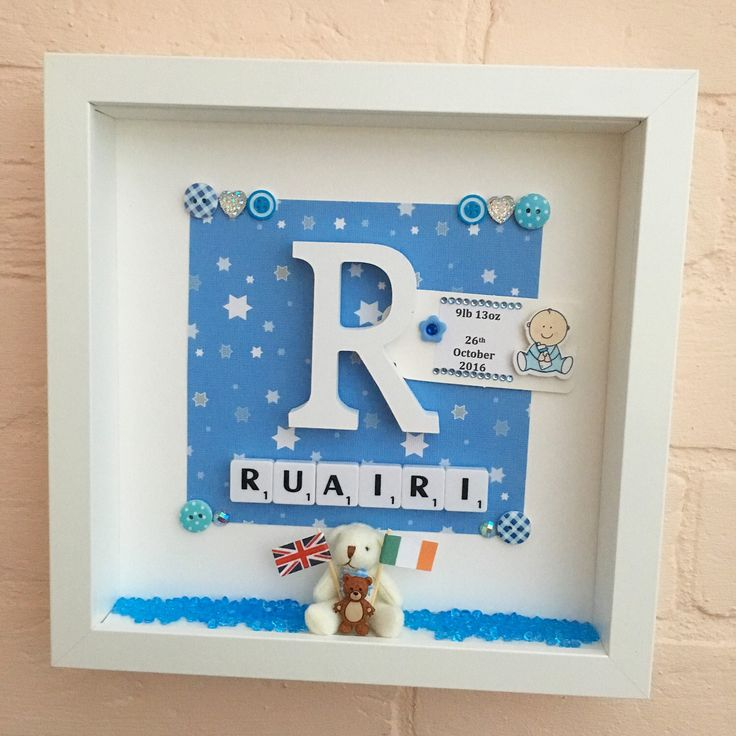 New Baby Gift, Baby Boy Gift, Personalised Christening Gift, Baptism Gift, Baby Christening Gift Frame, Gift from God Parents,For God Child
