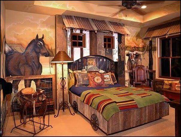 Idee Chambre Bebe Papier Peint : le thème Chambres Denfants Western sur Pinterest  Chambres Western