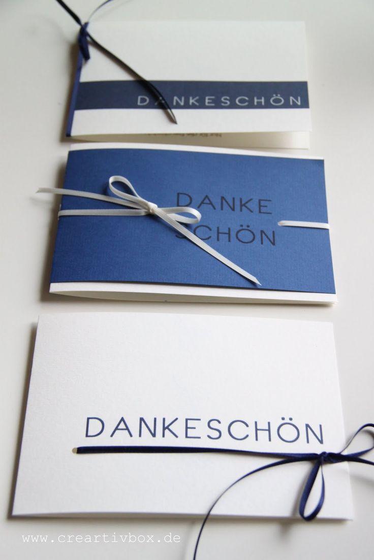creartiv.box: Dankeschön in blau