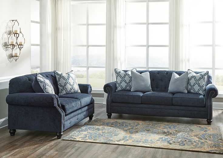 The Lavernia Combines Classic Style With Comfort! Check It Out At  Kemperfurnitureinc.com! Navy SofaFurniture OutletClassic ...