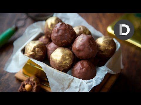 Chocolate Ferrero Rocher Truffles! - YouTube