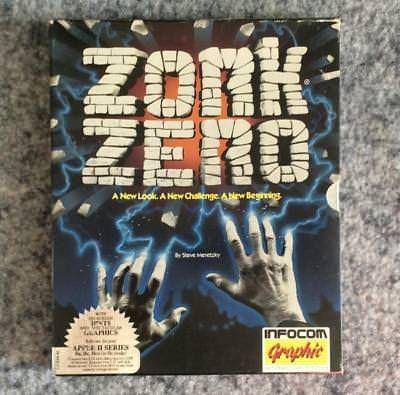Zork Zero Apple II IIe IIc IIGS Infocom computer text adventure game 1988 Zork 0