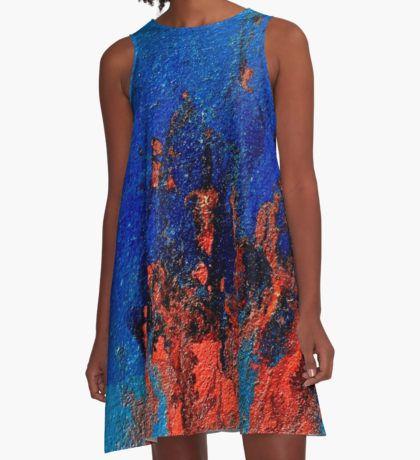 Cadmium Red Love in Flames  A-Line Dress