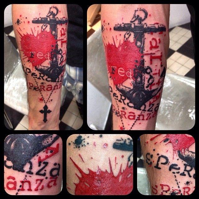 Tattoo by Elvin Sid-lboy In Dimitri HK shop Trash polka http://www.tatouage.fr/