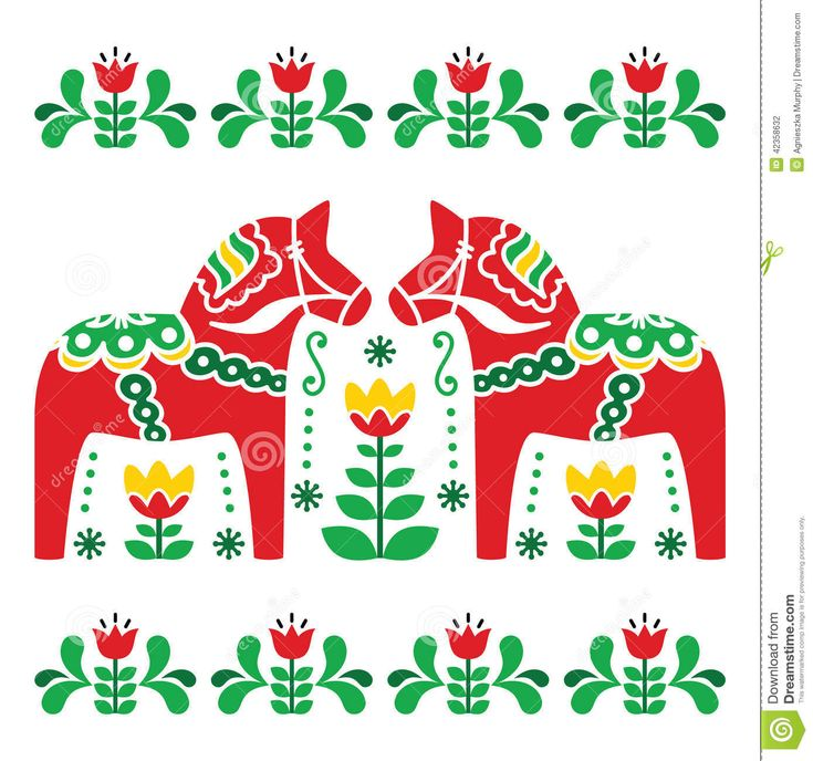 Swedish Dala Or Daleclarian Horse Folk Art Pattern - Download From Over 30 Million High Quality Stock Photos, Images, Vectors. Sign up for FREE today. Image: 42358632