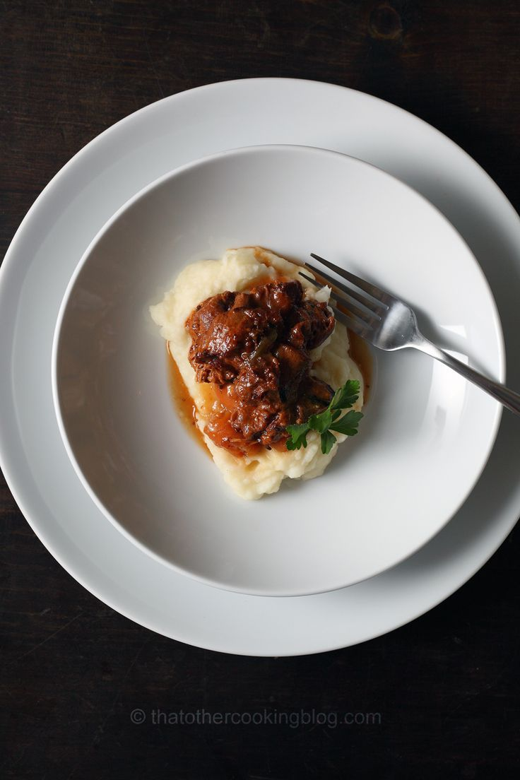 Beef Tripe Stew over Horseradish Parmesan Potato Puree - that Other Cooking Blog