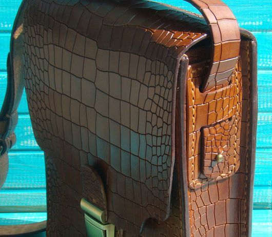 Мужские сумки ручной работы. Заказать Мужская сумка кожаная Крок.. Vlad. Ярмарка Мастеров. Мужская кожаная сумка