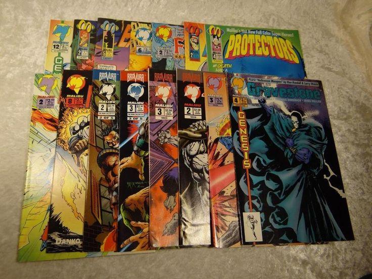 Lot of 15  Malibu Comics Ferret #1 Ex-Mutants A-X Man Of War Protectors Breed +