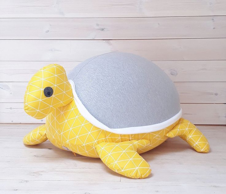 Excited to share the latest addition to my #etsy shop: Kids furniture, Baby bean bag pillow ,Nursery decor pillow, Turtle Beanbag, Grey&yellow triangles, beanbag chair, baby nest, stuffed animal, http://etsy.me/2iLn4pV #children #furniture #gray #babyshower #yellow #beanbagchair