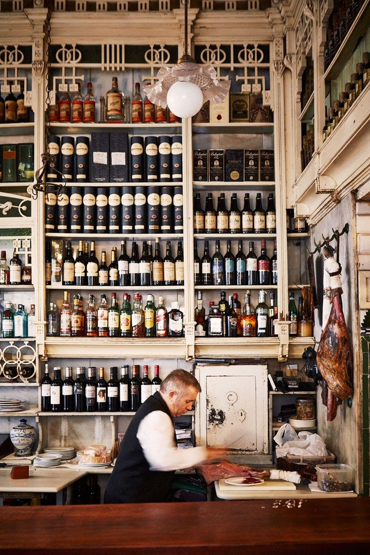 El Rinconcillo wine and spirits shop, Seville, Spain. Photo by: Oliver Pilcher
